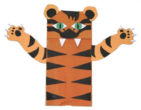 paper bag tiger craft
