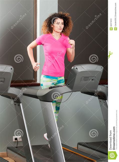 how to a to run on a treadmill beautiful running on treadmill in the stock photo image 66371872