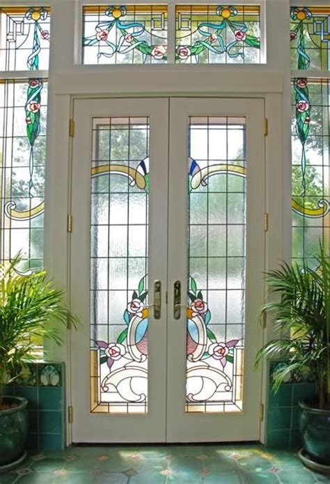 stained glass doors interior stained glass doors home interior design pertaining to