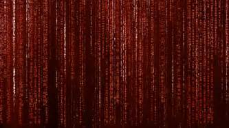 red animated matrix background computer code with symbols