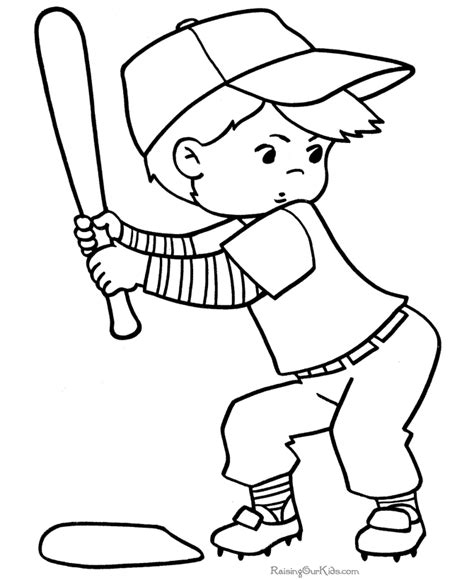 baseball coloring pages to print 001