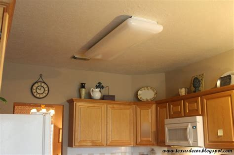 fluorescent light in kitchen decor a new kitchen light