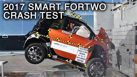 smart car crash 2017 smart fortwo frontal crash test