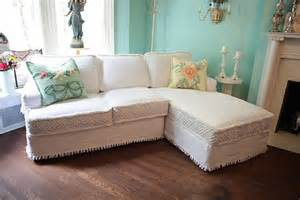 Slipcover For Settee Shabby Chic Sectional Sofa Vintage Matelasse Bedspread