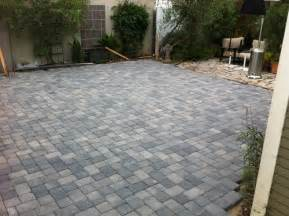 Paver Backyard by Large Patio Pavers Patio Design Ideas