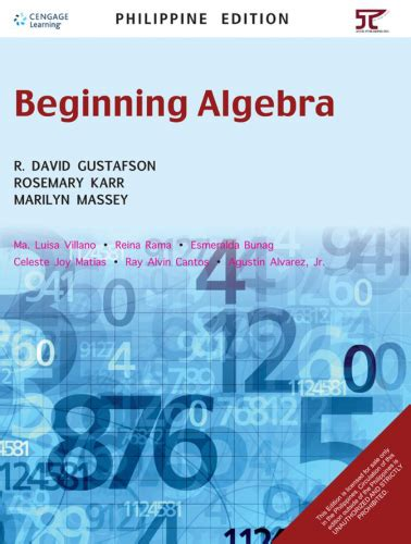 Beginning Algebra beginning algebra 171 anvil publishing inc