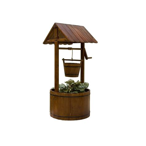 shop garden treasures decorative wishing well at lowes com