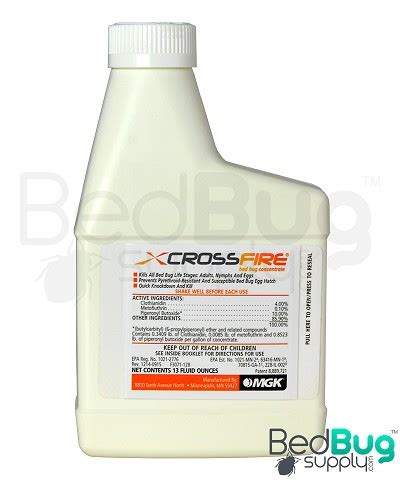 crossfire bed bug concentrate residual spray