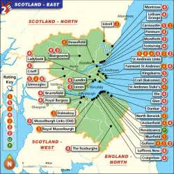 golf courses in map golf map scotland east top 100 golf courses best