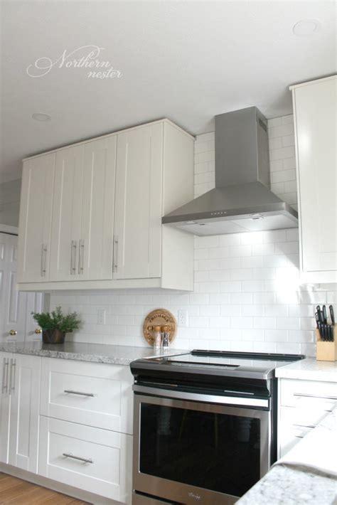 ikea kitchen backsplash ikea kitchen reno grimslov cabinets backsplash down to