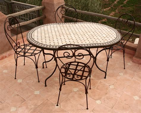 table fer exterieur best table de jardin mosaique et fer