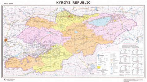 kirgistan map map of kyrgyzstan