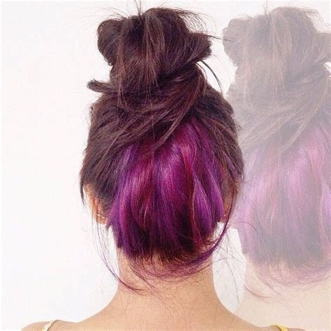 layers underneath hair for body damage hair brown hair with pink underlayer www pixshark com