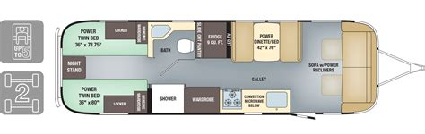 rv floor plan floorplans classic airstream
