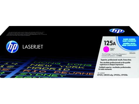 Toner Laserjet 125a Cb543a Magenta hp 125a magenta original laserjet toner cartridge cb543a hp 174 united states