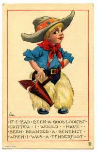 Vintage clip art cute little cowboy 2 the graphics fairy