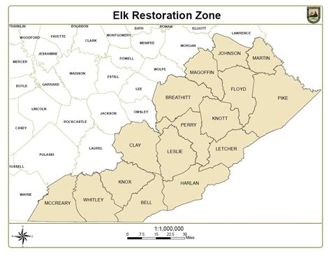 kentucky elk map opinions on elk restoration and management in kentucky