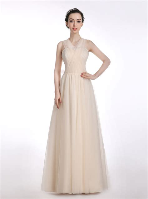 what color prom dress should i get a line one shoulder tulle beige prom dress with