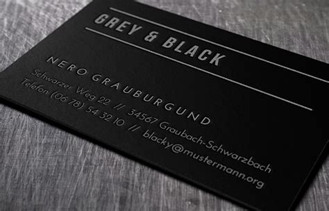 Visitenkarten Schwarz by Visitenkarten Produkte