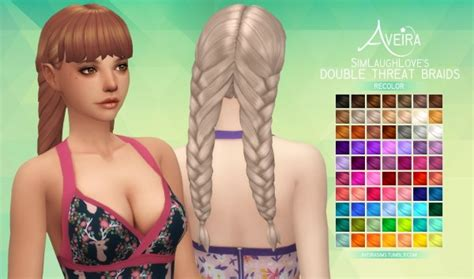 sims 4 custom content braids sims 4 hairs aveira sims 4 simlaughlove s double threat