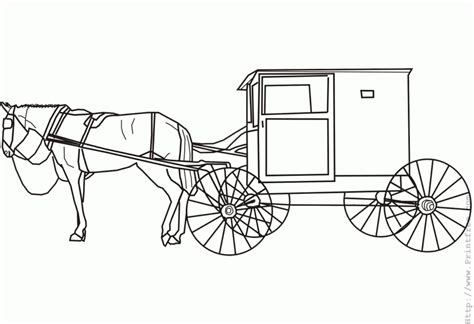 coloring pages of and buggy amish and buggy coloring page get coloring pages