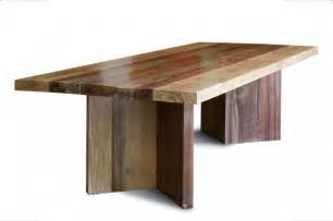 Dining room designs contemporary reclaimed wood dining table design