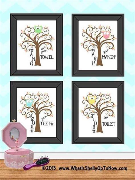 kids owl bathroom decor kids owls bathroom decor art bathroom artwork printable