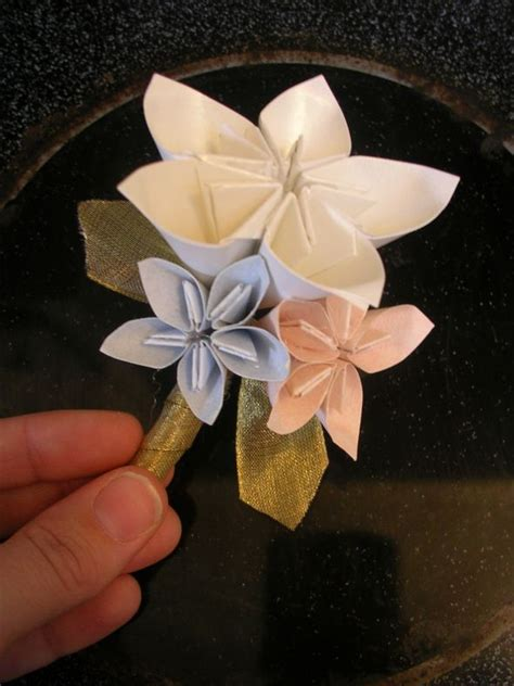 How To Make Paper Bouquet - my diy paper flowers soon to be bouquet and grooms bout