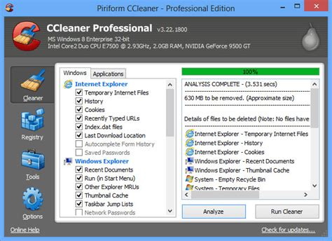 ccleaner quick clean widget world s most popular quick and easy cleaning tools for