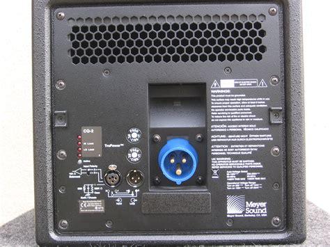Home Audio Speaker Cabinets Meyer Sound Cq1 Cq2 Image 283700 Audiofanzine