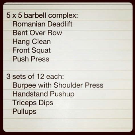 barbell complex barbell complex plyo workout tickets to the gun show