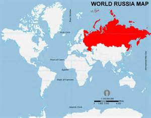 Russia World Map by Gallery For Gt Russia On World Map