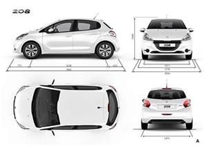 Peugeot 208 Dimensions Peugeot 208 Models Vehicle Specifications