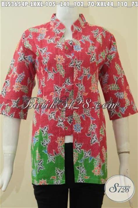 Baju Cewek Bahan Katun Ld 105 busana batik cewek dewasa model formal baju batik lengan
