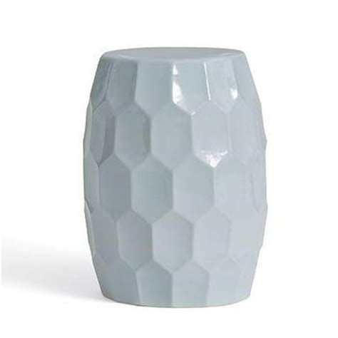 White Ceramic Table L by Faceted Ceramic Side Table West Elm