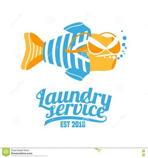 logo design laundry service laundry service vector logo original design stock vector