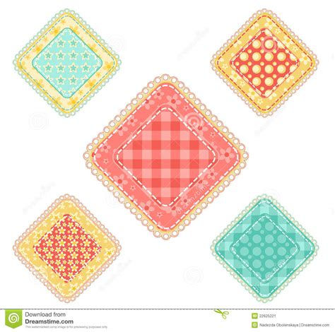 Define Patchwork - set of patchwork rhombuses stock image image 22625221
