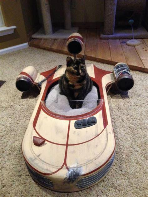 unique cat beds star wars landspeeder cat bed neatorama