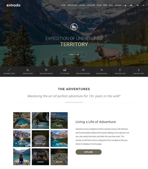 entrada theme 50 best travel themes free and premium