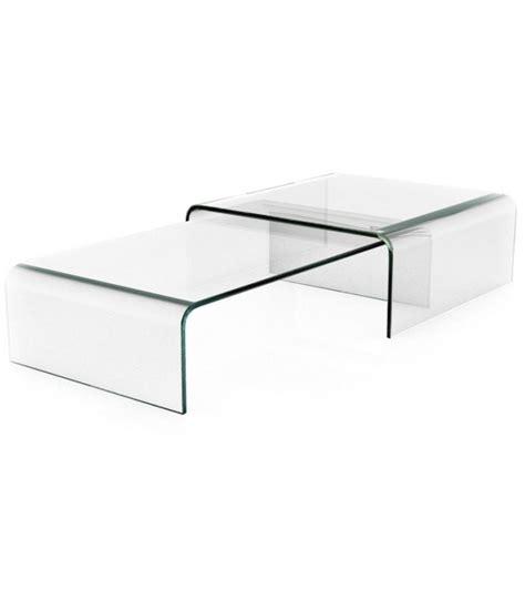 table basse gigogne en verre design haut de gamme bady