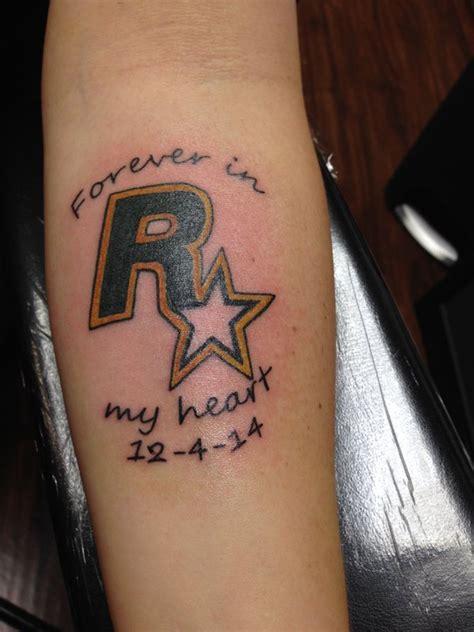 rockstar tattoo pictures gta and rockstar games tribute tattoos grand theft auto