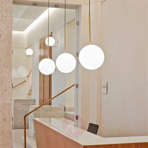 flos bathroom light ic s2 designer pendant l by flos brass lights co uk
