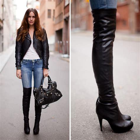 caroline b topshop boots balenciaga bag thigh high