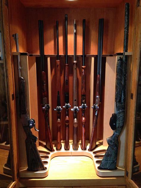 built in gun cabinet com 1895gunner u shaped gun rack built for