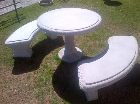 concrete tables and benches swannies precast garden products