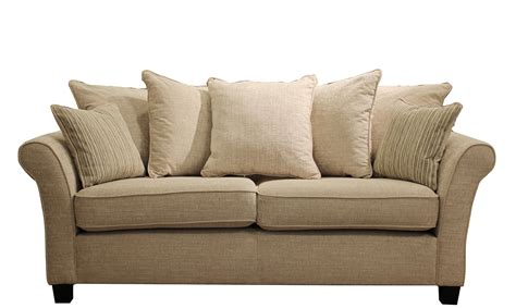 Carlton Large Pillow Back Sofa In Corrine Beige All Sofa Back Pillows