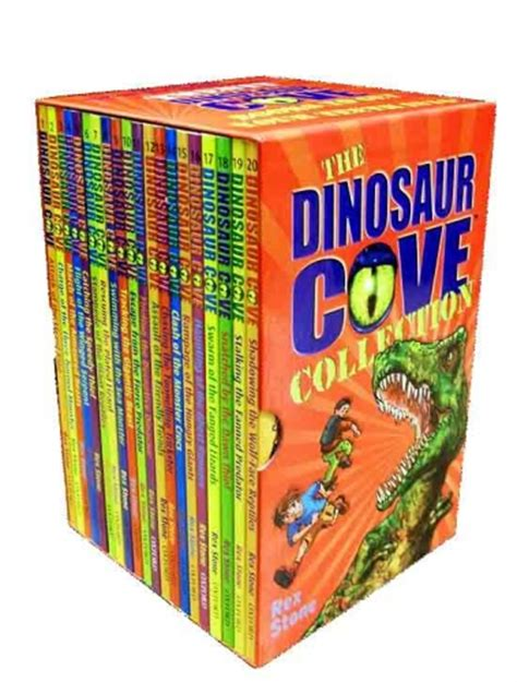 Fossil Tome Set Box Coklat dinosaur cove series collection 20 books box set 1 to 20