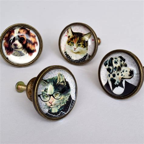 retro dress up animal drawer knob cupboard door handle
