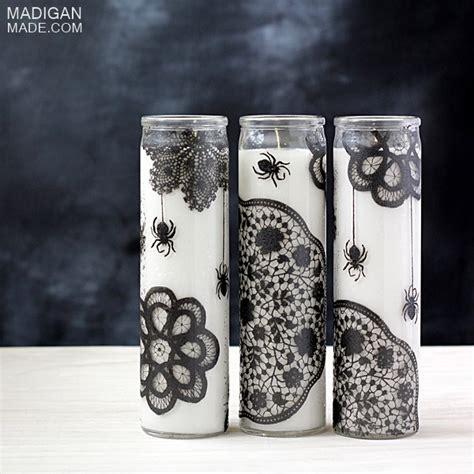 doily spiderweb candles dollar store crafts