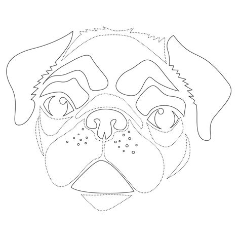 Pug Outline by Best Photos Of Outline Template Clip Clip And